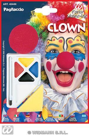 Circus Clown Makeup Set W/Nose Face Paint Set