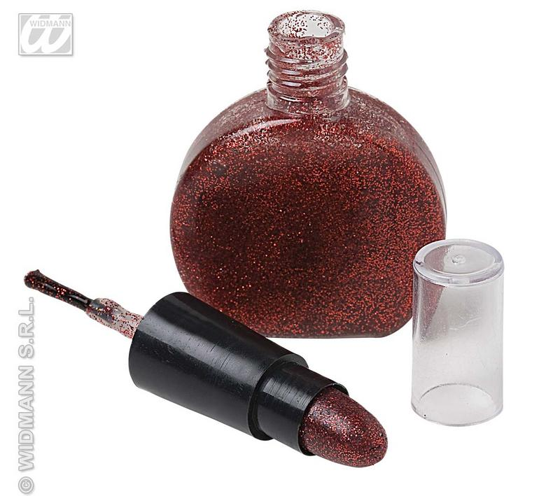 Red Sparkle Glitter Make Up Face Paint Set Kit Disco 70's Fancy Dress