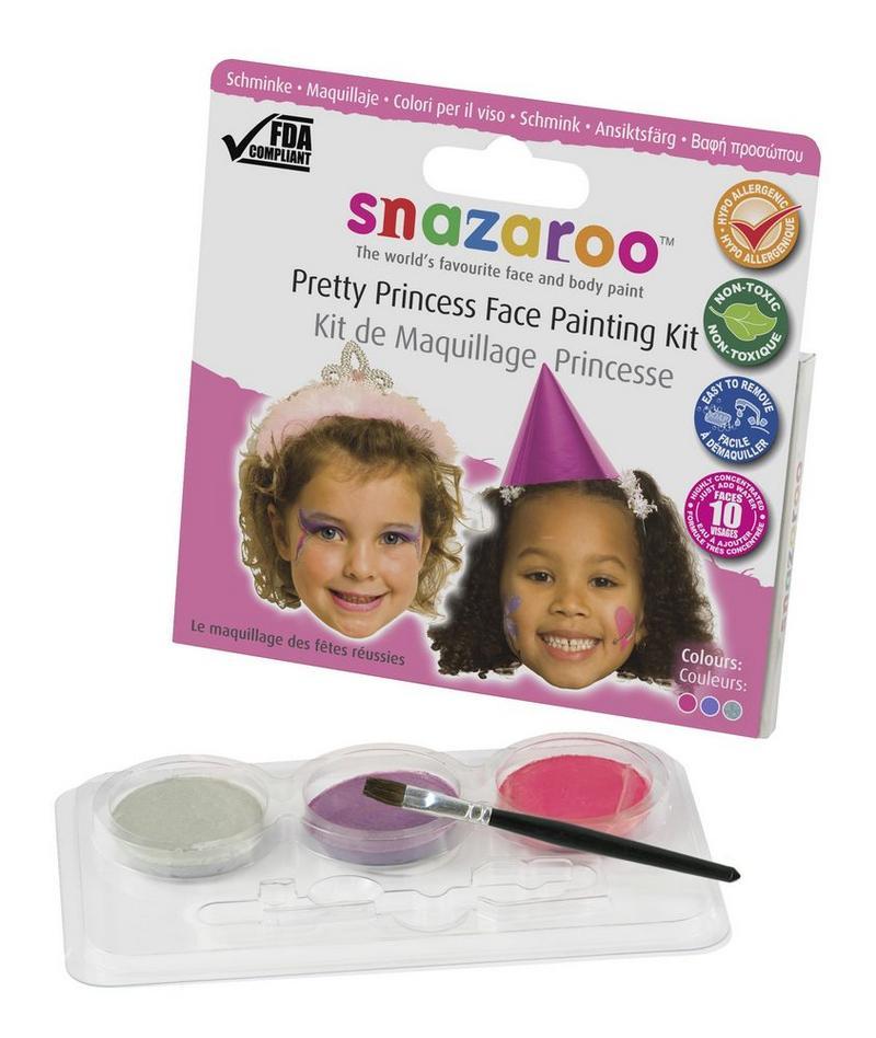Princess Makeup Kit 3 Colour Set Face Paint Fancy Dress