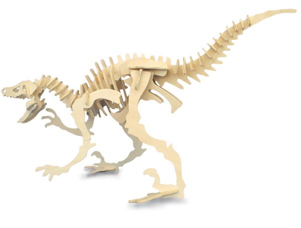 Velociraptor Dinosaur 3d Wooden Modelling Kit Model Jigsaw