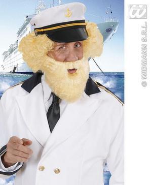 Blonde Beard & Moustache Captains Birdseye Sailor Pirate Fancy Dress