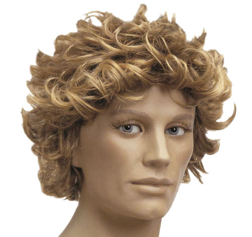 Blonde And Brown Surfer Afro Wig Australian Messy Hair Fancy Dress ... 03412290d060