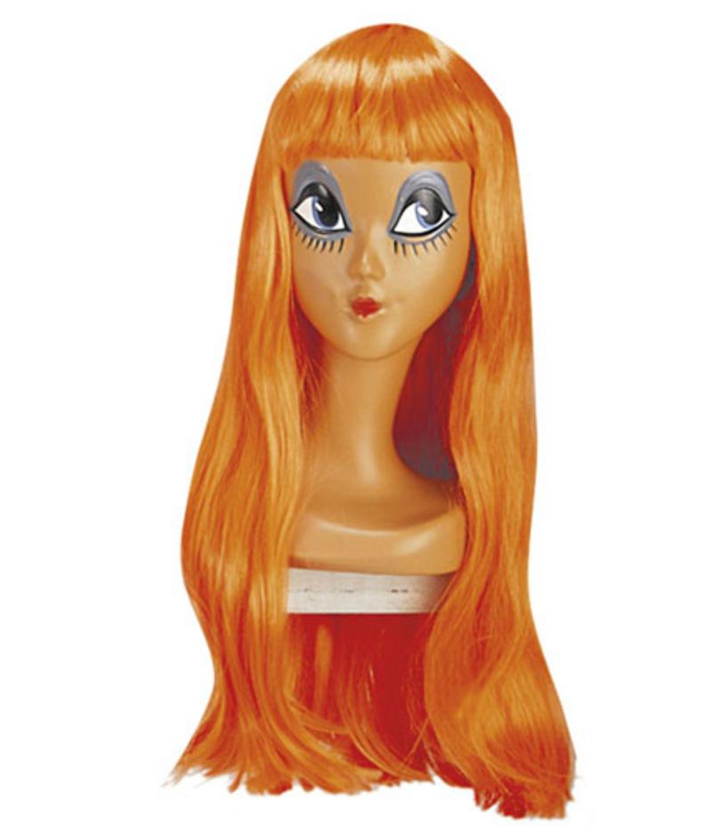 Long Orange Wig Sexy Katy Perry Celebrity Style Fancy Dress