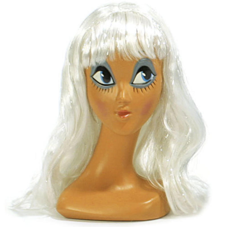 Long White Wig With Fringe Katy Perry California Girl Fancy Dress