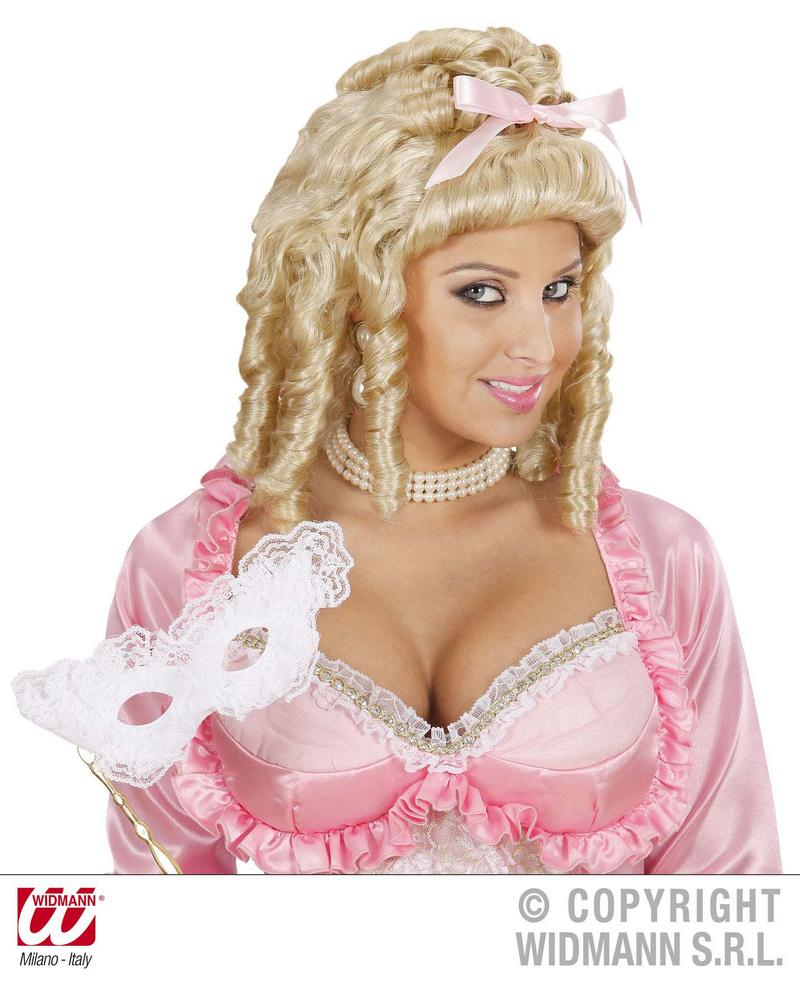 Ladies Blonde Tight Curl Wig Princess Queen Regal Fancy Dress