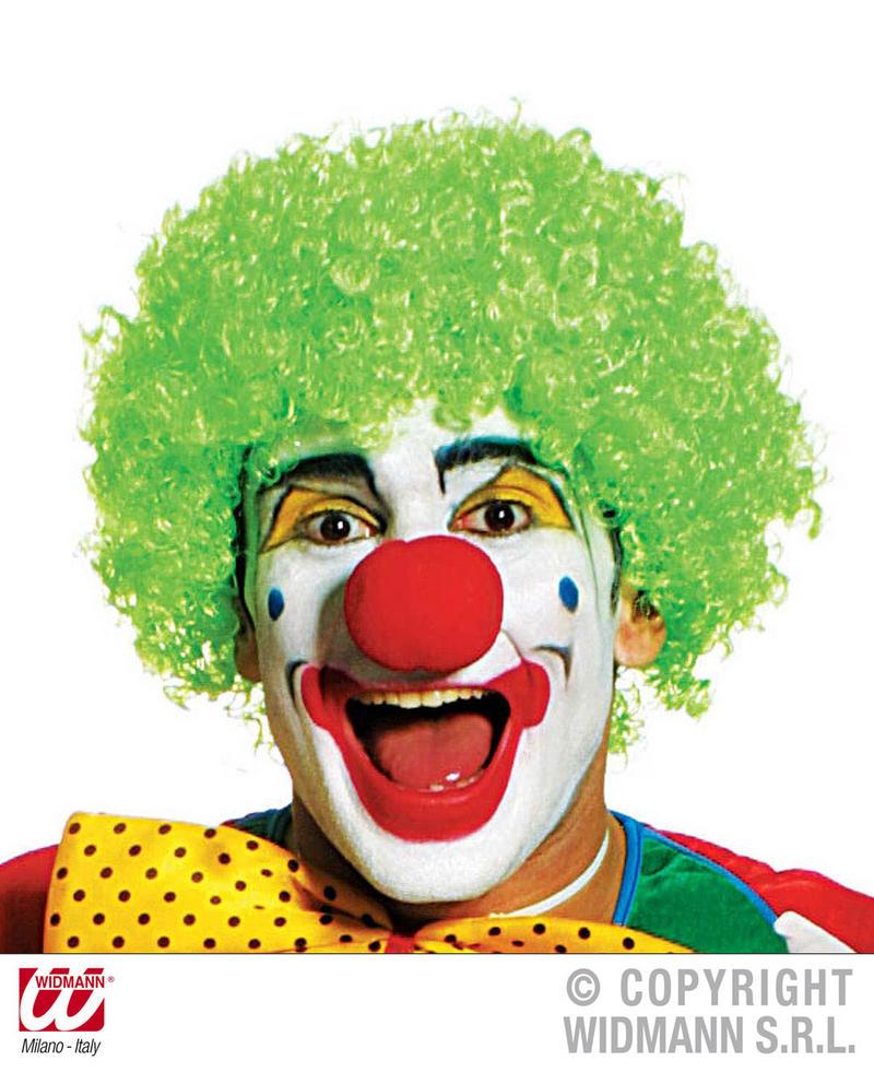 Small Tight Curl Green Afro Wig Clown Joke Circus Fancy Dress