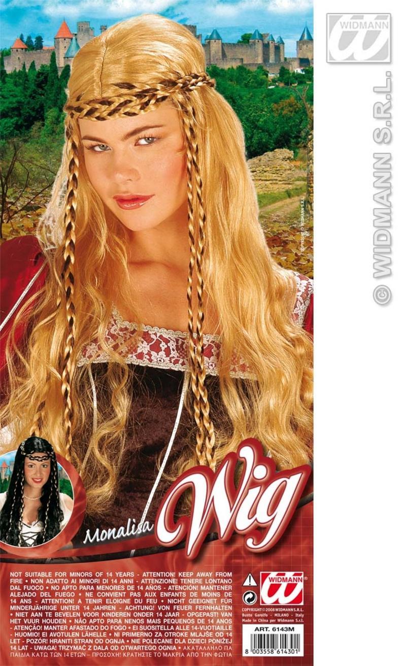 Ladies Long Blonde Wig With Plaits Hippy Hippie German Oktoberfest Fancy Dress