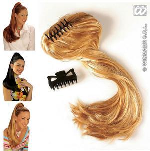 "Ladies Long Black Plait Hair Extension Ponytail Wig Fancy Dress 20/"" Lara Croft"