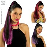 Ladies Black And Pink Coloured Hair Extension Piece - Pony Tail Ponytail