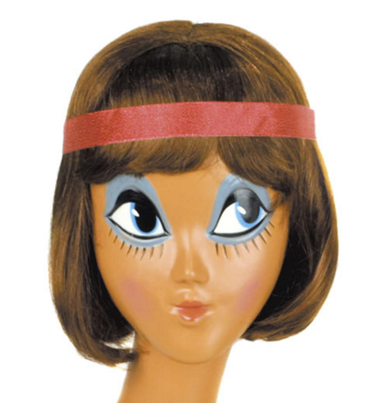 Ladies Brown Bob Wig With Headband Charleston Flapper 20'S Fancy Dress