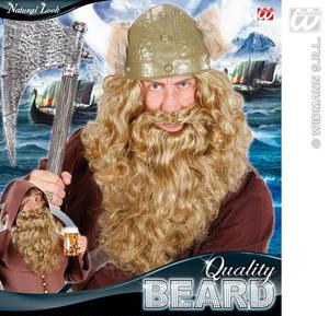 Blonde Curly Maxi Beard Viking Thor Fancy Dress