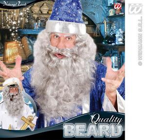 Large Grey Maxi Beard Wizard Gandalf Warlock Fancy Dress