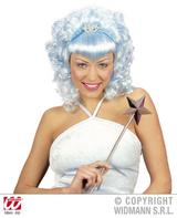 Baby Blue Curly Wig With Tiara Pop Princess Fairy Rave Party Fancy Dress