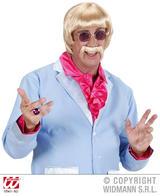 60'S Disco Man Blonde Wig & Moustache Cop Hippy Keith Lemon Fancy Dress