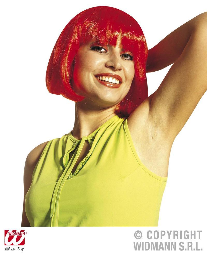 Ladies Short Red Bob Wig Pulp Fiction Fancy Dress