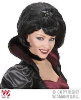 Black Wig With Spider Black Widow Spider Witch Gothic Halloween Fancy Dress