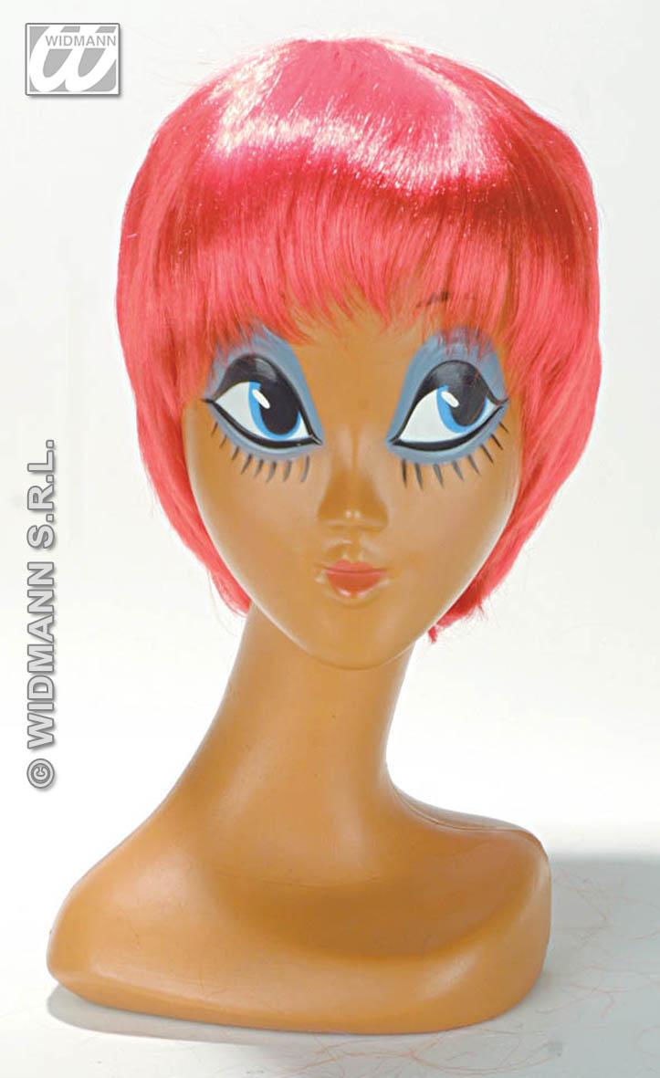 Red Bob Wig New Age Mod Cyber Emo Punk Rocker Raver Rave Fancy Dress