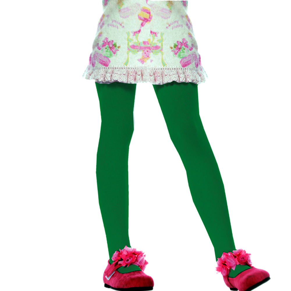 Green Tights Childrens Size Small 4-6 Years Peter Pan Halloween Fancy Dress