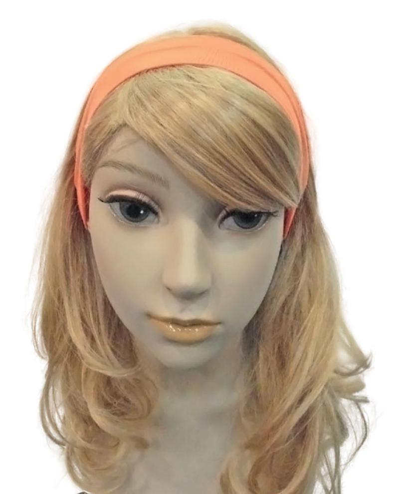 Neon Orange Hairband Bandana 80S Rave Festival Hen Party Fancy Dress