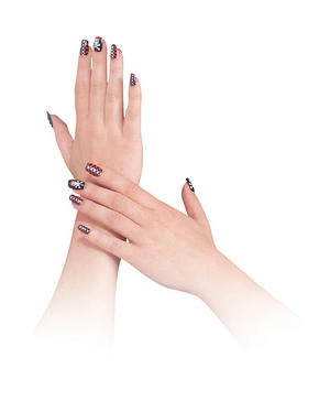 Buccaneer Beauty Fake Nails Pirate Wench Fancy Dress Accessory Make Up