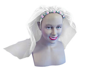 White Wedding Veil Hen Party Weekend Bride To Be Fancy Dress