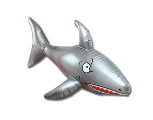 "Large 24"" Inflatable Shark Pool Toy Beach Party Hawaiian Fancy Dress"