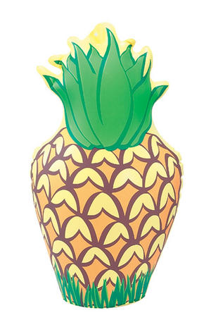 "14"" Inflatable Pineapple Cocktail Beach Party Hawaiian Fancy Dress Accessory"