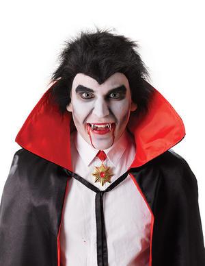 Dracula Teeth Fang Caps Silver Fangs Vampire Halloween Fancy Dress