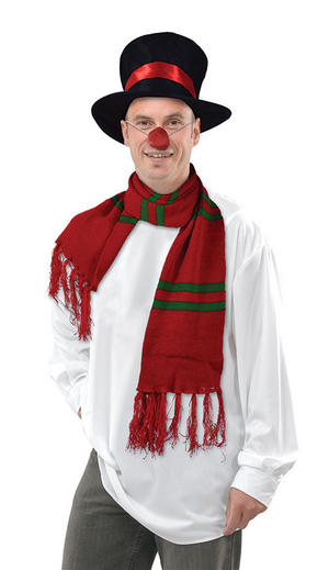 Snowman Kit Hat Nose & Scarf Christmas Frosty Xmas Fancy Dress Set