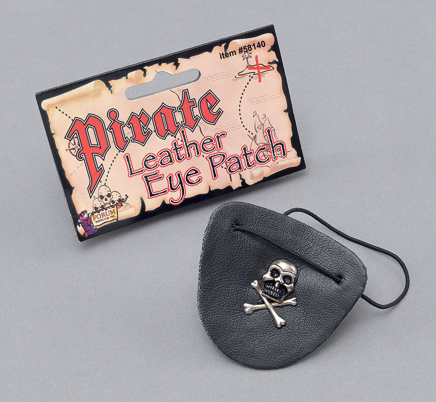 Leather Pirate Eye Patch Buccaneer Pirates Of The Caribbean Halloween Fancy Dres