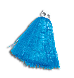 Blue Pom Pom American High School Cheer Leader Hen Party Fancy Dress