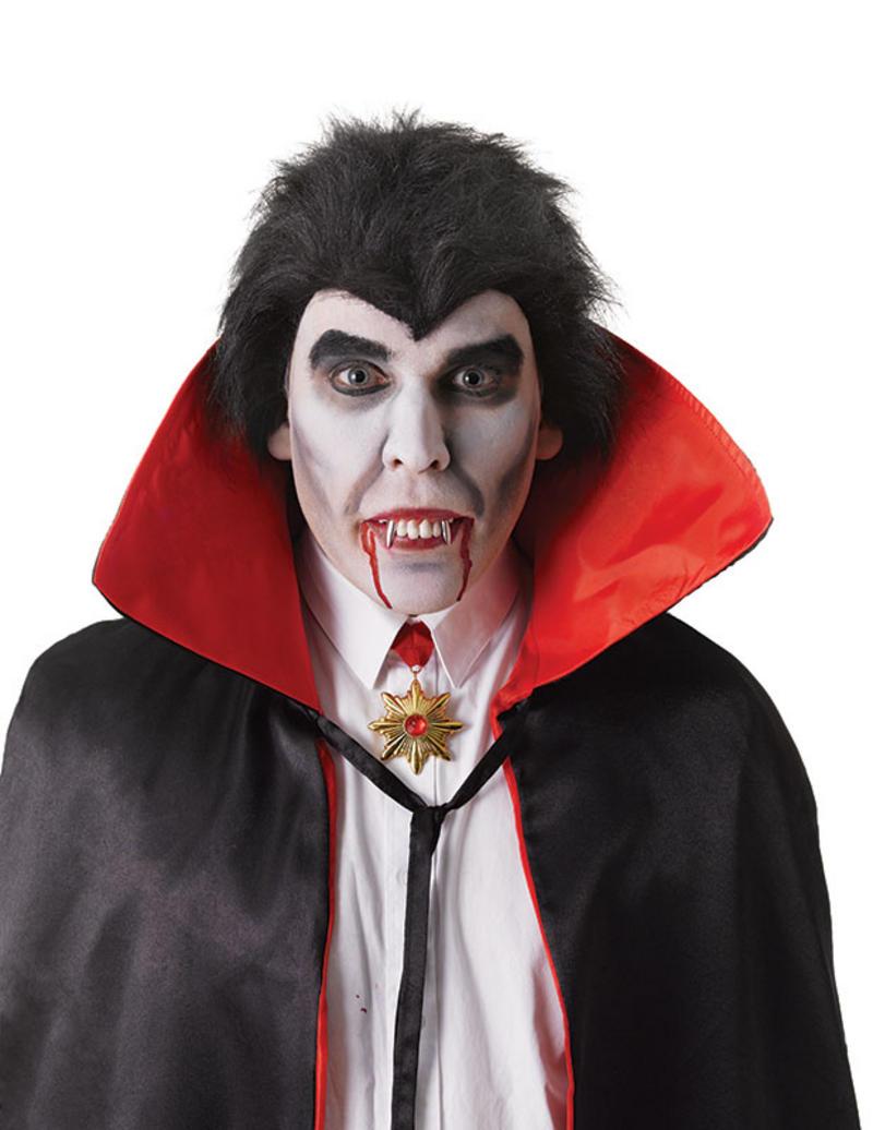 Dracula Teeth With Silver Fangs Vampire Halloween Fancy Dress