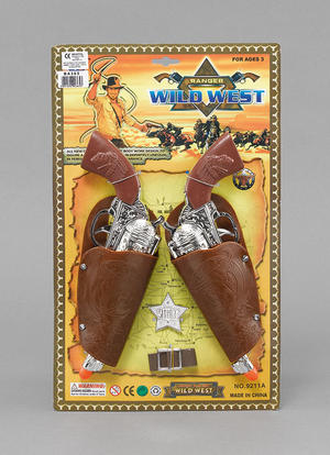Cowboy Holster And Gun Cowboys And Indians Sheriff Childrens Kids Fancy Dress