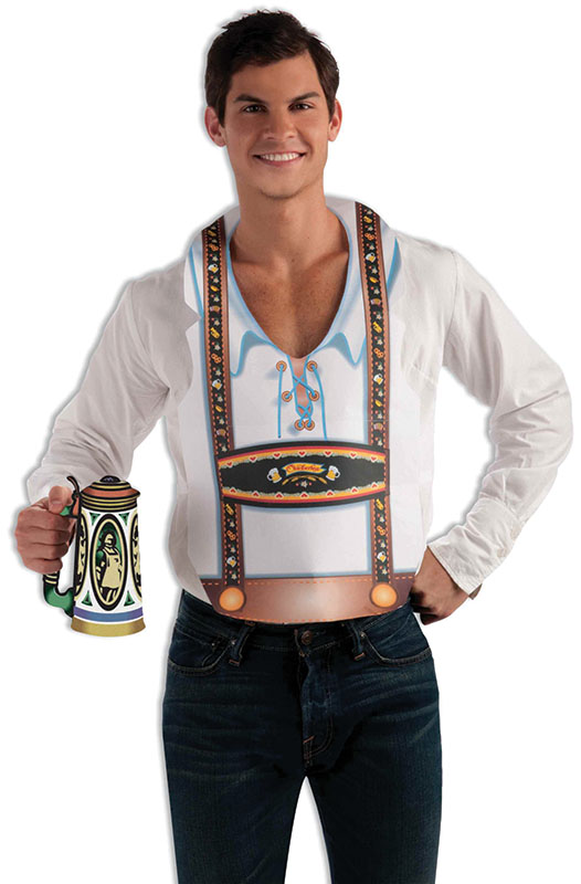 Oktoberfest Vest Traditional German Style Male Germany Beer Festival Fancy Dress