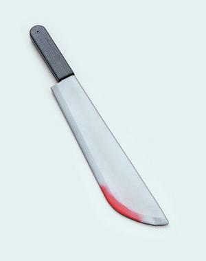 Blood Splattered Machete Mad Psycho Killer Halloween Fancy Dress
