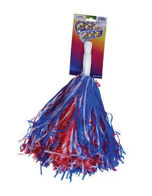 Red White Blue Pom Pom American Cheer Leader High School Fancy Dress