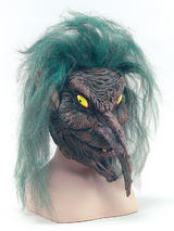 Tree Sprite Mask Overhead Evil Goblin Magical Creature Halloween Fancy Dress