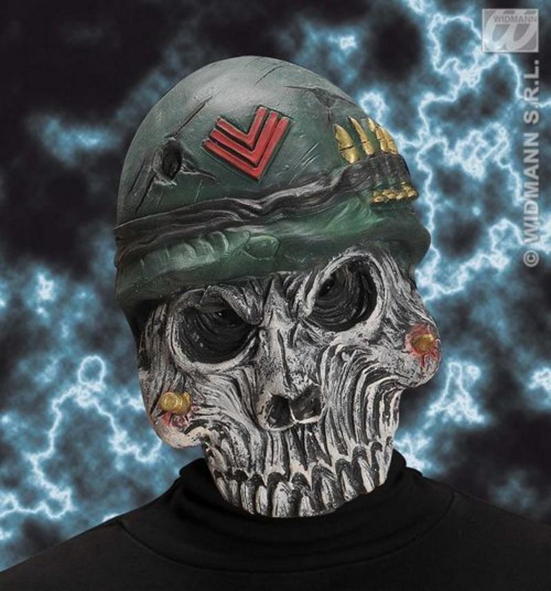 Millitary Skeleton Mask Halloween Monster Skull Army Fancy Dress