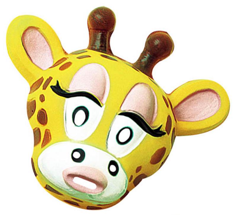Adult Plastic Giraffe Mask Animal Zoo Fancy Dress