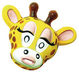 Adult Plastic Giraffe Mask Animal Zoo Fancy Dress