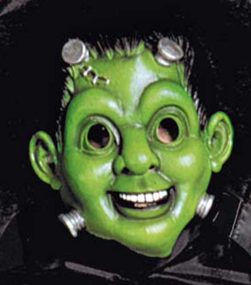 Frankenstein Face Mask With Collar & Cape Monster Halloween Fancy Dress