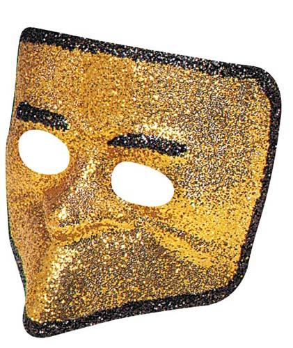 Gold Glitter Venetian Face Mask Masquerade Ball Party Fancy Dress