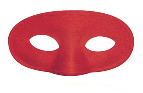 Childrens Red Eye Mask Eyemask Super Hero Demon Halloween Fancy Dress