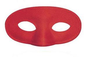Childrens Red Eye Mask Eyemask Super Hero Demon Halloween Fancy Dress