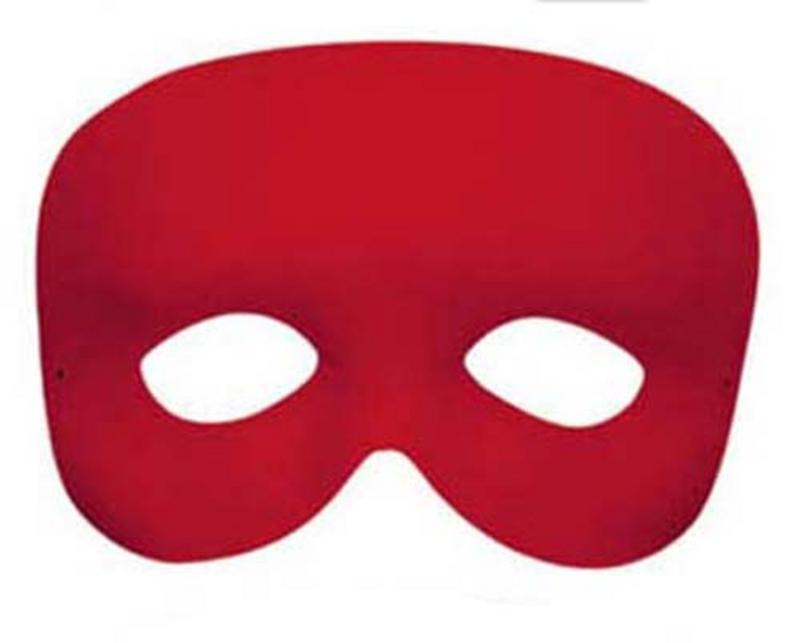 Red Phantom Eye Mask Eyemask Masquerade Ball Cocktail Party Fancy Dress