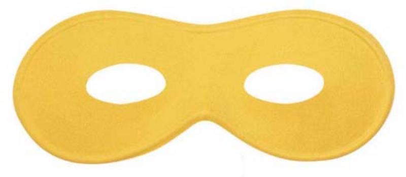 Yellow Eyemask Eye Mask Masquerade Party Ball Fancy Dress