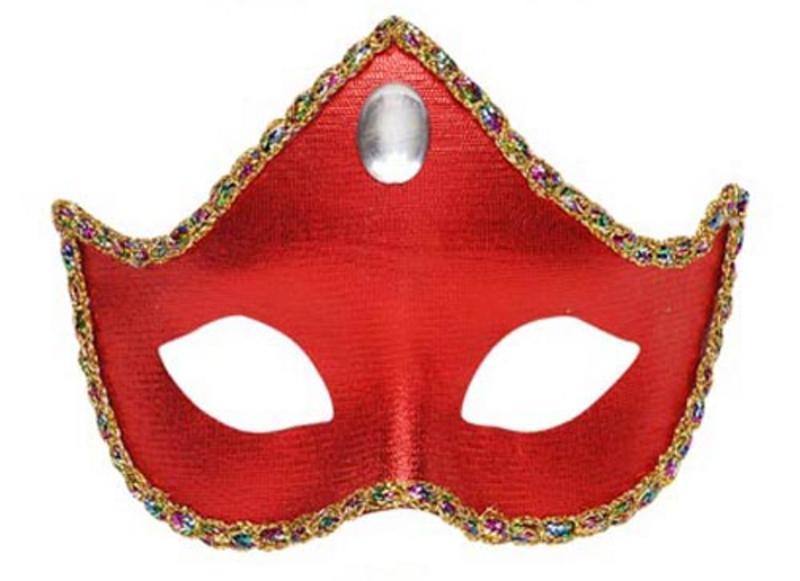 Red Fabric Eyemask Eye Mask Regal Masquerade Ball Party Fancy Dress