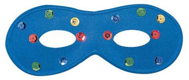 Blue Eye Mask Eyemask With Coloured Spots Masquerade Ball Party Fancy Dress