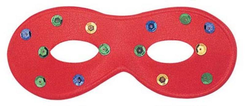 Red Eye Mask Eyemask With Coloured Spots Masquerade Ball Party Fancy Dress