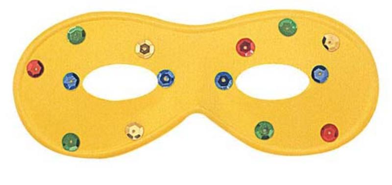 Yellow Eye Mask Eyemask With Coloured Spots Masquerade Ball Party Fancy Dress